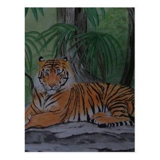 Tigre en descanso postal