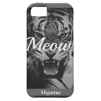 Tigre Hipster Black uni Style genial fight hip iPhone 5 Case-Mate Carcasas