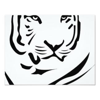Tigre Invitación 10,8 X 13,9 Cm