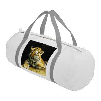 tigre joven lindo bolsa de deporte