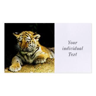 tigre joven lindo tarjetas de visita