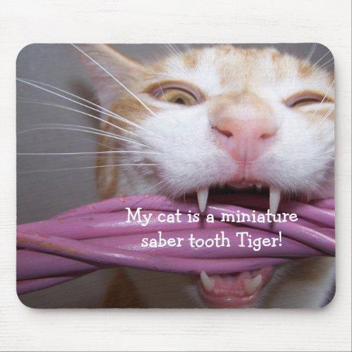 tigre Mousepad del diente del sable Alfombrillas De Ratones