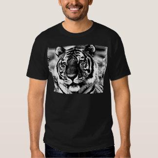 Tigre negro y blanco camisetas