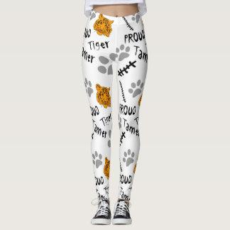 Tigre orgulloso más doméstico leggings