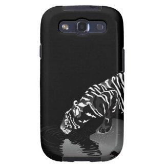 Tigre pelado animal abstracto samsung galaxy s3 protectores