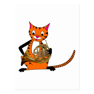 Tigre que juega la trompa postal