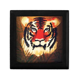 Tigre que se agacha caja de joyas