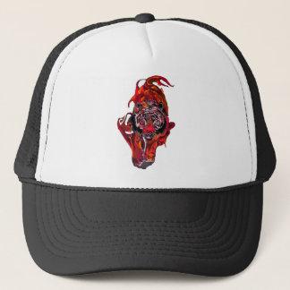 Tigre rojo gorra de camionero