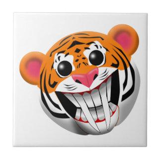 tigre sable-dentado azulejo cuadrado pequeño