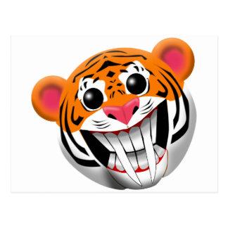 tigre sable-dentado postal