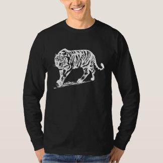 Tigre simple en blanco camisas
