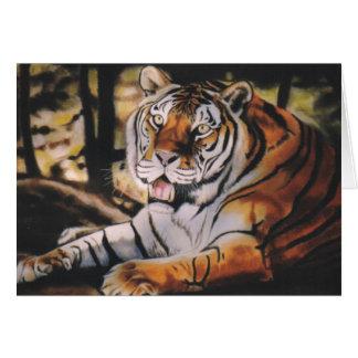 """""""Tigre """" Tarjeta De Felicitación"""