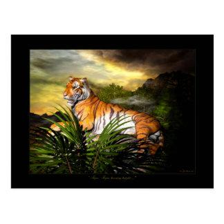 Tigre, tigre, postal brillante ardiendo