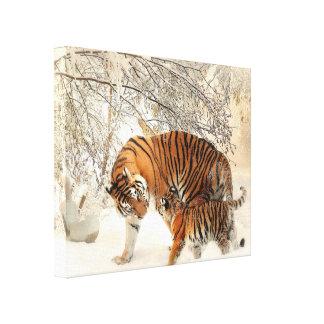 Tigre y Cub Lienzo