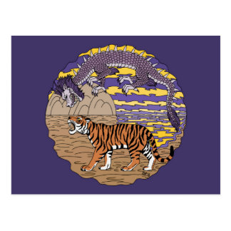 Tigre y dragón postal
