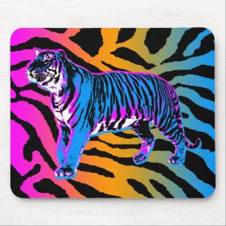 Tigre y rayas retros Mousepad del tigre 80s de Cor Alfombrillas De Ratones