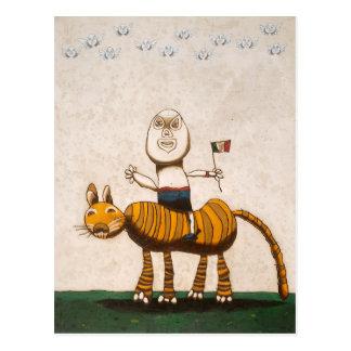 ¡Tigre y yo Postal