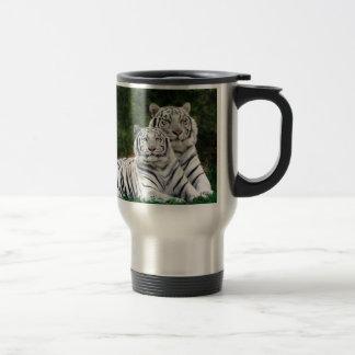 Tigres blancos taza de café