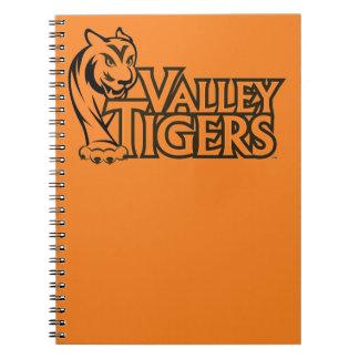 Tigres de la High School secundaria del valle Cuaderno