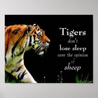 Tigres //de motivación póster