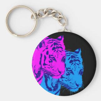 Tigres del gemelo del vintage del tigre 80s de Cor Llavero