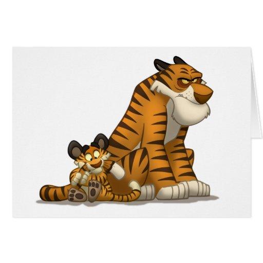Tigres en una tarjeta