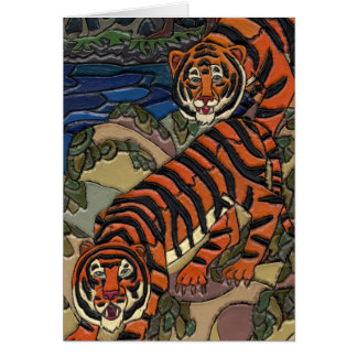 Tigres Tarjeta De Felicitación