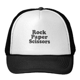 Tijeras de papel de la roca gorras