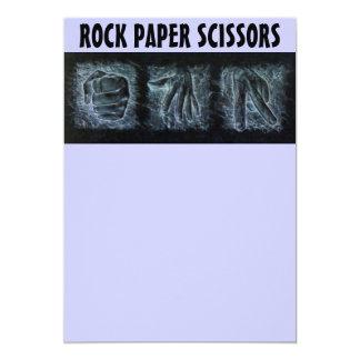Tijeras de papel de la roca invitación 12,7 x 17,8 cm