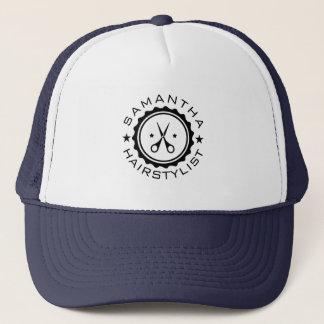 Tijeras geométricas negras del círculo y del gorra de camionero