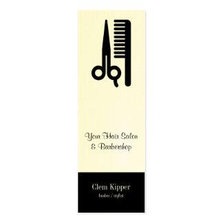 Tijeras y negocios del pelo del peine tarjetas de visita mini