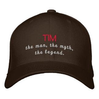 Tim la leyenda gorra de béisbol bordada