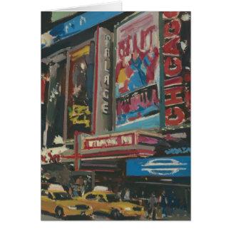 Times Square brillante 2012 de las luces Tarjeta De Felicitación