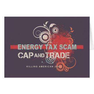 Timo del impuesto sobre energía tarjeta de felicitación