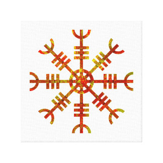Timón del diseño antiguo de los nórdises del temor lienzo