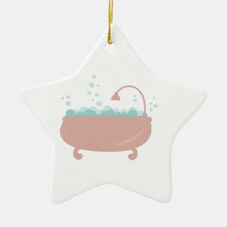 Tina de baño ornamentos de navidad
