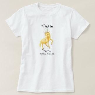 Tinam la camiseta Lata-De cuernos del unicornio