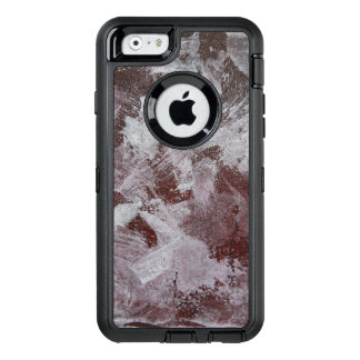 Tinta blanca en fondo rojo funda OtterBox defender para iPhone 6