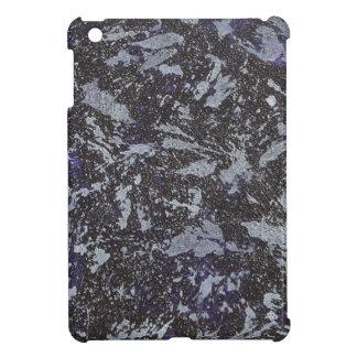 Tinta blanco y negro en fondo púrpura