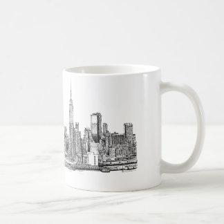 Tinta del horizonte de Nueva York Tazas
