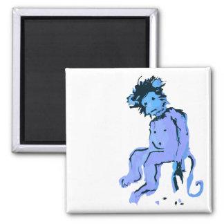 tinta del mono del emo imán cuadrado