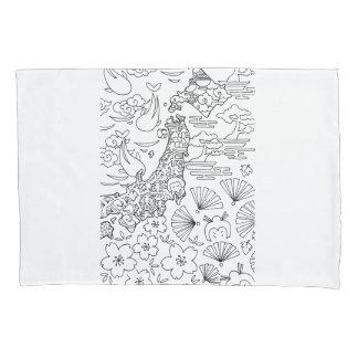 Tinta: Funda de almohada de JAPÓN