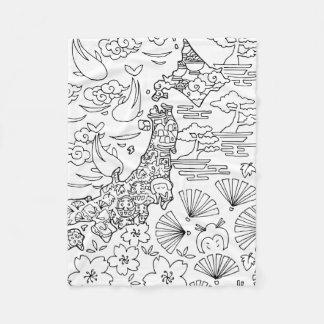Tinta: Manta del paño grueso y suave de JAPÓN,