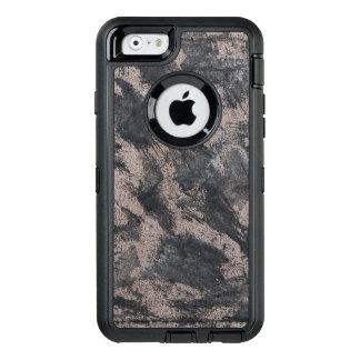 Tinta negra en el fondo de Brown Funda OtterBox Defender Para iPhone 6