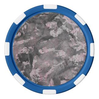 Tinta negra en el Highlighter rosado Juego De Fichas De Póquer