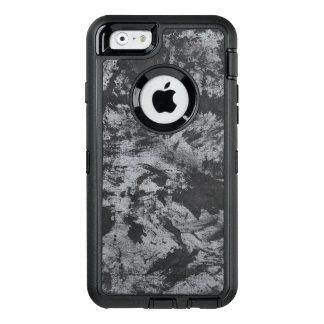 Tinta negra en fondo gris funda OtterBox defender para iPhone 6