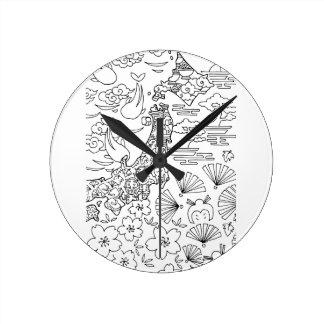 Tinta: Reloj de pared de JAPÓN
