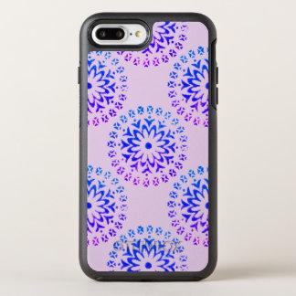 Tinta tribal de la púrpura de la mandala del funda OtterBox symmetry para iPhone 7 plus