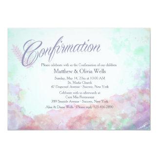 Tinte de la invitación de la confirmación de los invitación 12,7 x 17,8 cm