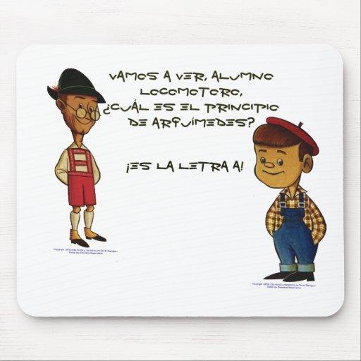 Tío Aquiles y Locomotoro Tapete De Ratones